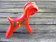 Vintage wooden Swedish goat Varberg. by MyNiftyBrocante on Etsy