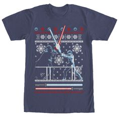 #Christmas Where can I buy Star Wars Men's Ugly Christmas Sweater Duel Navy Blue T-Shirt for Christmas Gifts Idea Stores . Xmas is meant to be an exilerating moment, a period of time wherever family members bond, a period of time regarding parties, wit as well as an abundance of sequins. Aside from the once-a-year be conc...