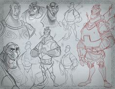 """I have seen a few artists posting their designs, so i guess its ok to share mines! These were designed for the Masters of Anatomy Character Design Book. Go and grab one copy if you haven´t already, its full of awesomeness.  """"Imagine being in a classroom made up of the greatest character designers in the world - artists who have worked for Disney, Pixar, DreamWorks, Sony Animation, Marvel and DC. Imagine what you could learn from seeing these incredible artists tackle challenging charact..."""