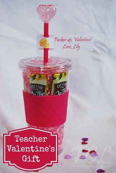 Teacher Valentine's Day Gift Idea: Drink Tumbler