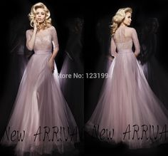 2014 Tony Bowls sexy plus size club dresses vestido de festa Shining  Sequins Three Quarter sleeve Prom dress Long evening dress-in Prom Dre. 641200fea8a9