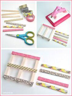 Washi Tape Mini Wood Pallets Craft DIY: