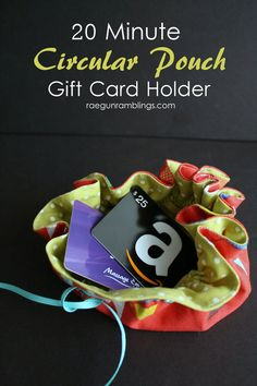 Circular Gift Card Pouch Tutorial - Skip To My Lou Skip To My Lou