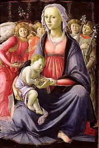 Sandro Botticelli Italian Renaissance Art, Renaissance Kunst, Renaissance Paintings, Medieval Paintings, Giorgio Vasari, Madonna Und Kind, Madonna And Child, Religious Paintings, Religious Art