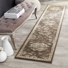 Charlton Home Lavelle Brown/Ivory Area Rug Rug Size: