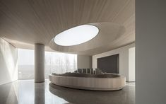 Pop Design, Design Lab, Auditorium Architecture, Space Architecture, One Light, Light In The Dark, Aesthetic Experience, Lakeside Living, Sales Center