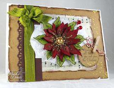 Sweet 'n Sassy Stamps: Poinsettia Season's Greetings