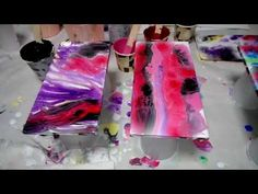 YouTube Acrylic Painting Lessons, Acrylic Pouring, T Shirts For Women, Videos, Irene, Artworks, Youtube, Paper Art Design, Abstract Paintings