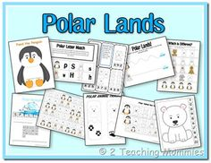 Polar Lands Preschool Printable Pack