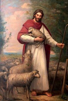 The good Shepherd Jesus Christ Painting, Jesus Art, Pictures Of Christ, Jesus Christ Images, Jesus Our Savior, Jesus Is Lord, Christian Paintings, Christian Art, Greg Olsen Art
