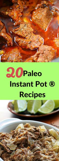 Curious what do with your new gadget? Here are 20 Paleo Instant pot recipes to i. Curious what do with your new gadget? Here are 20 Paleo Instant pot recipes to inspire your creativ Instant Pot Pressure Cooker, Pressure Cooker Recipes, Slow Cooker, Pressure Cooking, Recipe R, Recipe Ideas, Think Food, Paleo Dinner, Recipes Dinner