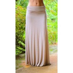 Sailing Away Maxi Skirt-Sand - $26.00