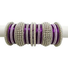 Purple and silver Bridal Bangles, Bollywood Jewelry, Bangle Set, Classy, Jewellery, Purple, Bracelets, Silver, Color