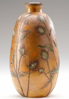 MARTIN BROTHERS Stoneware vase incised and painted