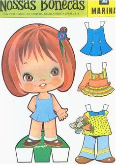 This From - MaryAnn - Picasa Web Albums Paper Doll Craft, Paper Dolls Book, Vintage Paper Dolls, Doll Crafts, Paper Crafts, Cardboard Paper, Paper Toys, Bjd Dolls, Doll Toys