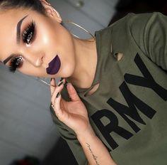 Hooded Eye Makeup – Great Make Up Ideas Makeup Goals, Makeup Tips, Beauty Makeup, Makeup Videos, Makeup Art, Makeup Products, Winter Makeup, Fall Makeup, Halloween Makeup