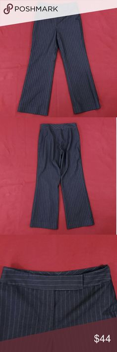 """Petite Striped Lined Dress Pants ~ 28"""" Inseam Excellent Condition! Size 4P.  Measurements lying flat: Waist ? 14"""", Hips ? 19"""", Inseam - 28"""", Front Rise ? 10"""", Back Rise ? 15"""".  Please, review pictures. You will get the item shown. Smoke & pet free home. Tahari Pants Trousers"""