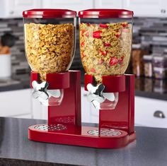 Honey-Can-Do® Double Cereal Dispenser with Portion Control - JCPenney Home Organization Hacks, Pantry Organization, Pantry Ideas, Cool Kitchen Gadgets, Cool Kitchens, Cereal Containers, Cereal Dispenser, Honey Dispenser, Outdoor Movie Nights