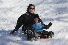 Iowa sledding! Springbrook State Park.  #Iowa #snow