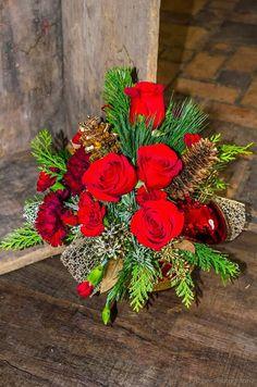 flower arrangements for christmas ideas - Google Search