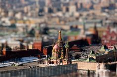 St. Basil's Cathedral Tilt-shift, Moscow