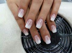 Ice white manicure