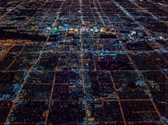 Aerial Photos of Las Vegas at Night Surrounded by the Pitch-Black Desert - My Modern Met