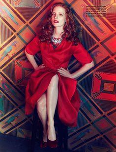 Jessica Chastain by Michelangelo di Battista for Vogue Italia (April 2012).