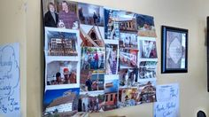 They had a collage board from when their cabin was built