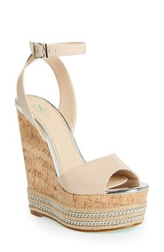 Topshop ankle strap wedge.