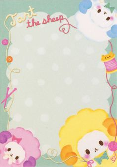 mini memo pad with colourful sheeps from Japan kawaii  2