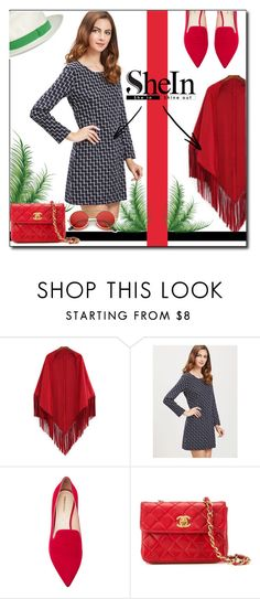 """""""SheIn !"""" by emapolyvore ❤ liked on Polyvore featuring Nicholas Kirkwood, Chanel and ZeroUV"""