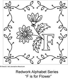 Redwork Alphabet Series - Part 1