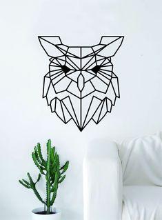 Geometric Owl Animal Design Decal Sticker Wall Vinyl Decor Art Living Room Bedroom Abstract Cool Teen Bird