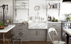 Gray Kitchen Cabinets ::  Windsor Smith