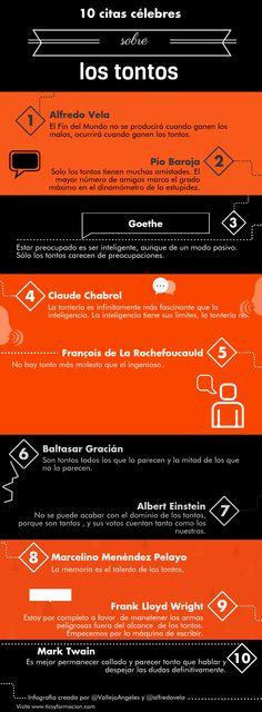 10 citas célebres sobre los tontos #infografia #infographic #citas #quotes | TICs y Formación