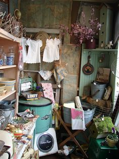 I would definitely linger in this booth at the antique show!
