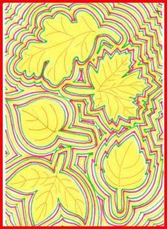 Obrysy podzimních listů