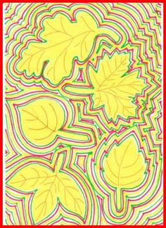 Obrysy podzimních listů – DIY World Fall Arts And Crafts, Autumn Crafts, Autumn Art, Fall Art Projects, Art Therapy Projects, Art Drawings For Kids, Art For Kids, 3rd Grade Art, Leaf Art