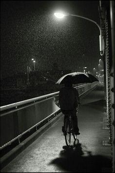 A Rainy Night Bike Ride