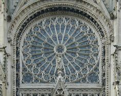Rouen Cathedral: north rose window.