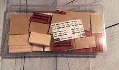Stampin Up Wood Rubber In Mounted Stamp Letterpress Alphabet Retired  | eBay
