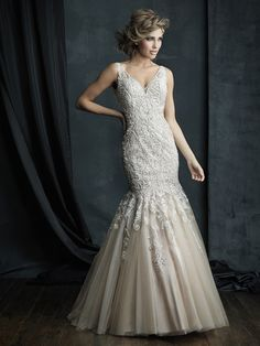Allure C388 Channel the opulent glamour of the 1920s in this magnificent sleeveless gown.