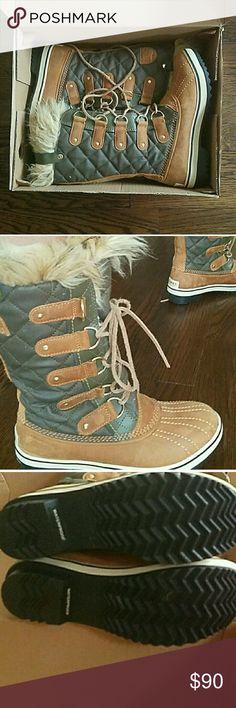 Sorel size 6 NIB. Never worn size 6. Waterproof Sorel Shoes Winter & Rain Boots