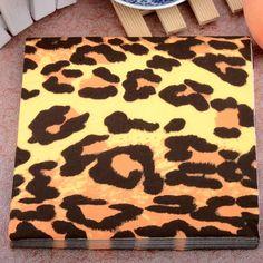 Persoonlijkheid Wilde Sexy Luipaard print Papier Servetten Event & Party Tissue Servet Supply Party Cafe Decoratie 33 CM * 33 cm 20 stks/pak