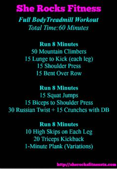 Full Body Treadmill Workout - She Rocks Fitness