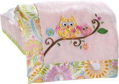 Kids Line Dena Happi Tree Embroidered Boa Blanket, Pink $16.19