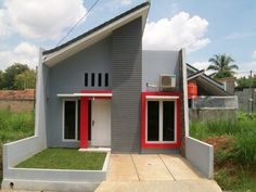 Architectural design for a minimalist home model can be placed or built with a fairly limited place. This type of . My Home Design, Tiny House Design, Modern House Design, Tiny House Plans Free, Building Development, Modern Minimalist House, Little Houses, My Dream Home, Jute