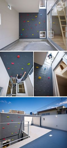 10 Modern Houses With Rock Climbing Walls