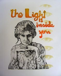 Esther Hansen, Light 1, etching, woodcut, pronto plate